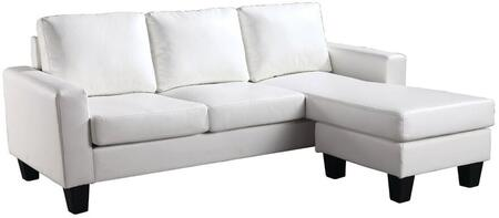 Glory Furniture G217SCH  Stationary Faux Leather Sofa