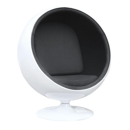 Fine Mod Imports FMI1150 White Shell Modern Ball Chair: