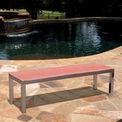 Vifah V1265 Picnic Wood Frame Armless Patio Benches |Appliances Connection