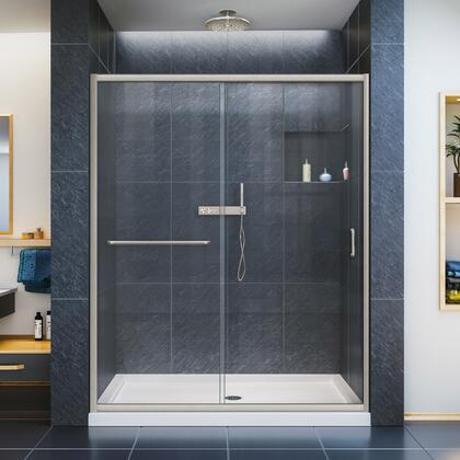DreamLine Infinity Z Shower Door 60 Brushed