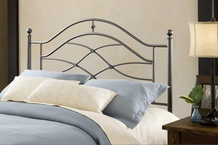 Hillsdale Furniture 1601H Cole Open-Frame Headboard with Rails Included, Scrollwork, Intricate Castings, Tubular Steel and Cast Aluminum Construction in Black Twinkle Color