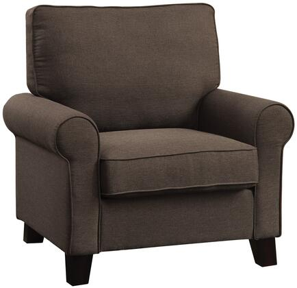 Coaster 504793 Noella Series Fabric Armchair with Metal Frame in Chocolate