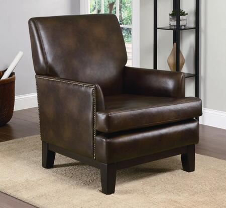 Coaster 900305 Club Faux Leather Wood Frame Accent Chair