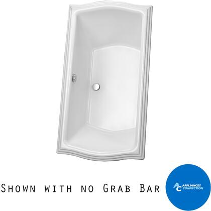 Toto ABY789N01 Clayton Series Drop-In Soaker Bathtub with Acrylic Construction, Slip-Resistant Surface, and Grab Bar, Cotton Finish