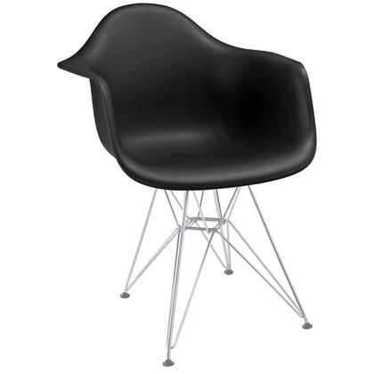 Modway EEI181BLK Paris Series  Metal Frame Dining Room Chair