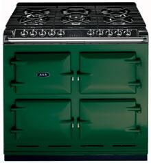 AGA A64LPBRG  Dual Fuel Freestanding Range with Sealed Burner Cooktop, 4.5 cu. ft. Primary Oven Capacity, in Green