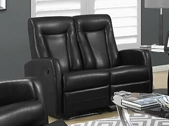 "Monarch I 82XXX 50"" Reclining Love seat with Bonded Leather, Padded Head Rest and Lumbar Support"