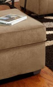 Chelsea Home Furniture 477070OVLT  Victory Lane Taupe Wood Frame Ottoman
