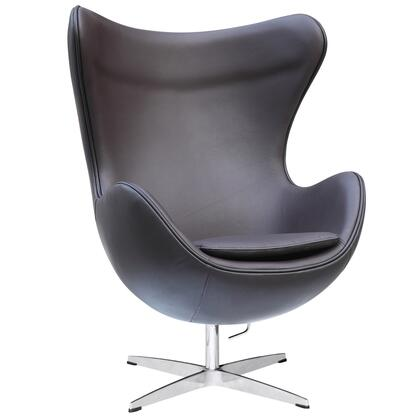 Fine Mod Imports FMI1131DKBROWN Inner Series Armchair Leather Fibre glass Frame Accent Chair