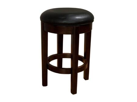 AAmerica PRSES3 Parson Seat Height Swivel Stool with Solid Hardwood Legs in Espresso, No Sag Spring Seating and Easy Care PU Leather Cover in
