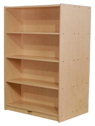 "Mahar M60DCASE 60"" Double Sided Book Case in Maple Finish with Edge Color"