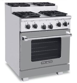American Range ARR304SMG Titan Series Gas Freestanding Range with Sealed Burner Cooktop, 4.8 cu. ft. Primary Oven Capacity, in Gun Metal