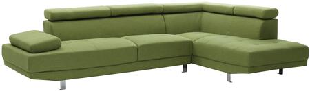 Glory Furniture G442SC Milan Series Curved Fabric Sofa