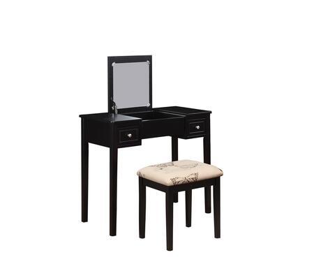 Linon 98135BLKX01KDU  2 Drawers Vanity