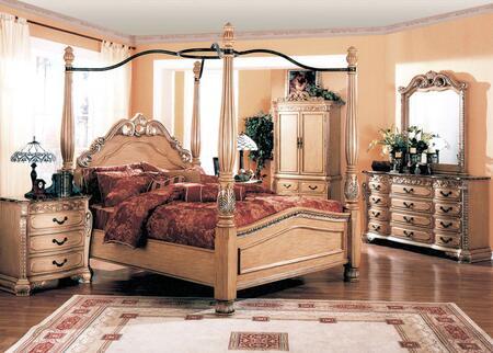 Yuan Tai W6010QTVSET Isabella Whitewash Series 5 Piece Bedroom Set