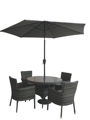 Rattan 6Pcs. Dining Set