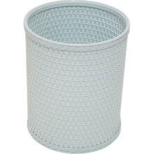 Redmon R426X Chelsea Collection Decorator Color Round Wicker Wastebasket in