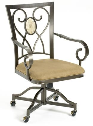 Hillsdale Furniture 4815804 Brookside Series Traditional Fabric Metal Frame Dining Room Chair