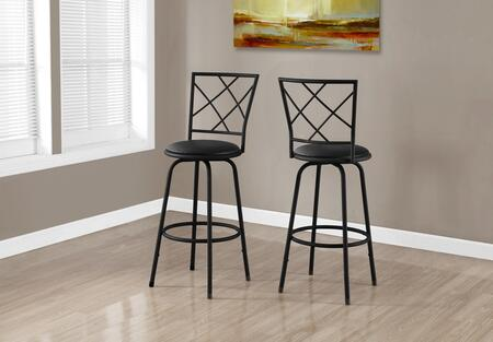 "Monarch I 237Y 44"" 2 PCS Barstool with Foot Rest, Criss-Cross Back and 360 Swivel Seat"