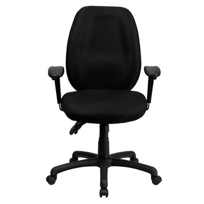 """Flash Furniture BT-6191H-XX-GG 18"""" High Back Fabric Multi-Functional Ergonomic Task Chair with Arms, Built-In Lumbar Support, Triple Paddle Control Mechanism, and Dual Wheel Casters"""
