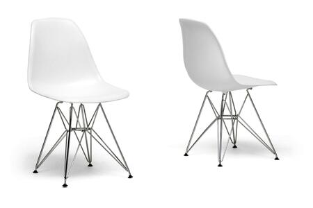 Wholesale Interiors DC231WHITE  Dining Room Chair