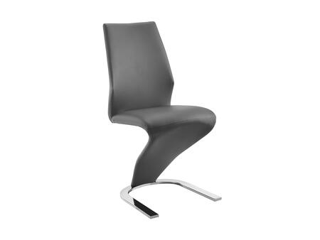"""Casabianca Boulevard Collection CB-6606 37"""" Dining Chair with Stitched Detailing, Eco-Leather Upholstery and Chrome Metal Legs"""