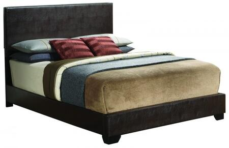 Glory Furniture Panel Bed with Faux Leather Upholstery in Cappuccino Color