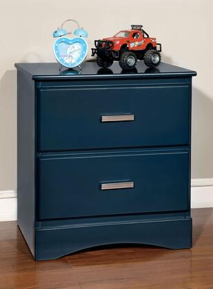 Furniture of America CM7941BLN Prismo Series  Night Stand