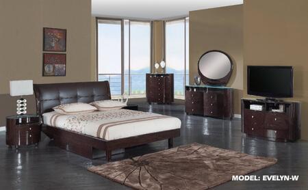 Global Furniture USA EVELYNWFBG Evelyn Full Bedroom Sets