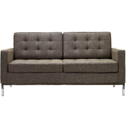Modway EEI186OAT Loft Series Fabric Stationary with Metal Frame Loveseat