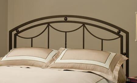 Hillsdale Furniture 1501H Arlington Headboard with Rails Included, Art Deco-Inspired Design and Tubular Steel Construction in Bronze Finish