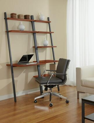 Unique Furniture 1C100014P Leaning Ladder Desk with Bookcase