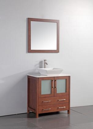 Legion Furniture WA7824 24 Solid Wood Sink Vanity With Mirror-No Faucet