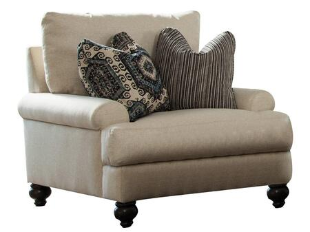 """Jackson Furniture Westchester Collection 3232-01- 41"""" Chair with Turned Legs, Two Throw Pillows and Recessed Rolled Arms in"""
