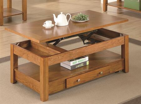 Coaster 701438 Oak Contemporary Table