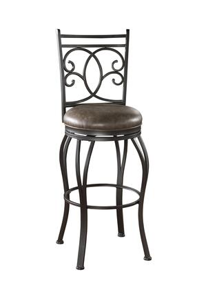 American Heritage 130928COC Nadia Series Residential Bonded Leather Upholstered Bar Stool