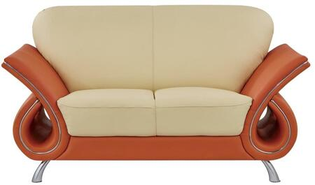 Global Furniture USA 559L Leather  with Wood Frame Loveseat