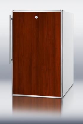 Summit CM411LFR  Freestanding Counter Depth Compact Refrigerator with 4.1 cu. ft. Capacity, 2 Wire ShelvesField Reversible Doors