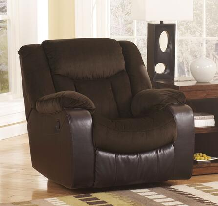 Signature Design by Ashley Tafton 7920X25 Rocker Recliner with Plush Padded Arms, Divided Back and Chaise Pad Seat Cushion in