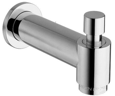 "Jewel Faucets 12144RLSFXX Cast Brass Designer 7"" Slip Fit Tub Spout With Diverter"