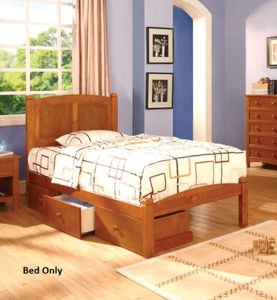 Furniture of America CM7903OAKTBED Cara Series  Twin Size Bed