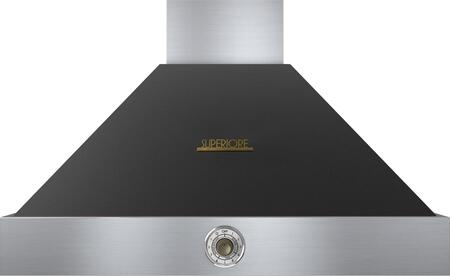 "Tecnogas Superiore HD361ACN 36"" DECO Series Pyramid Hood with 4 Speed Settings, Stainless Steel Baffle Filters, Analog Control, and 600 CFM Maximum Aspiration Capacity: Black with"