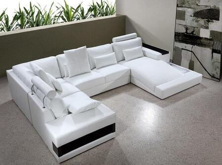 VIG Furniture VG2T0692BL  Sofa and Chaise Bonded Leather Sofa