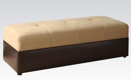 Acme Furniture 05777 Lakeland Series Contemporary Microfiber Ottoman