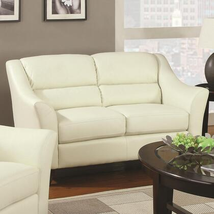 Coaster 504132 Sawyer Series Bonded Leather Stationary with Wood Frame Loveseat
