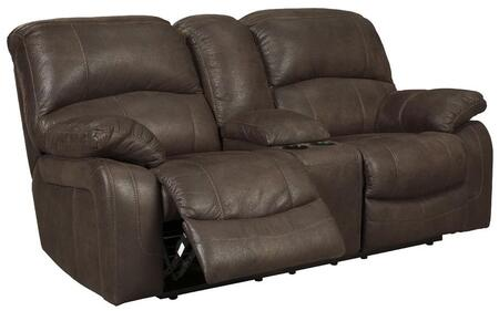 Signature Design by Ashley 4290191 Zavier Series Fabric Reclining with Metal Frame Loveseat
