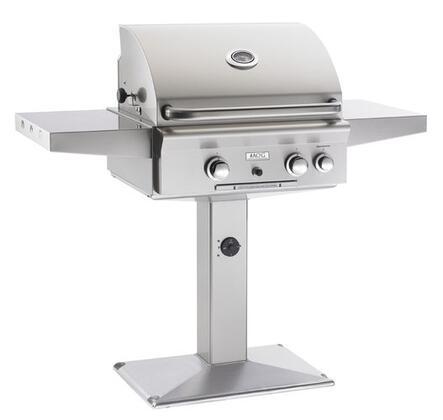 American Outdoor Grill 24xP Stainless Steel Patio Post Mount x Grill with 432 sq. in. Cooking Area, Heavy Duty Warming Rack and Rotisserie Backburner