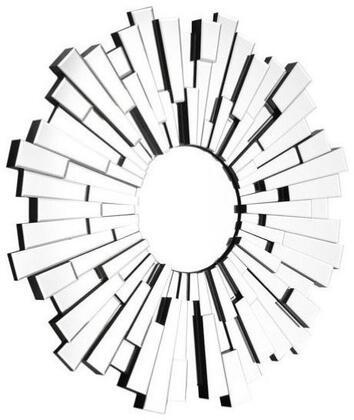 Zuo 850000 Burst Accents Series Round Portrait Decorative Mirror