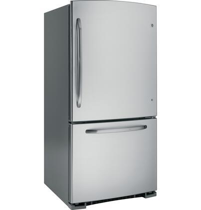 GE GDSL3KCYRLS  Bottom Freezer Refrigerator with 22.7 cu. ft. Total Capacity 6.5 cu. ft. Freezer Capacity 4 Glass Shelves  |Appliances Connection