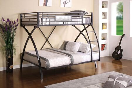 Furniture of America CMBK1029 Apollo Series  Twin over Full Size Bunk Bed